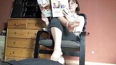 Polish mistress footstool marathon