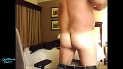 Handsome daddybear shows of his ass