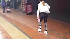 Uk Chav girl going gym candid part 2