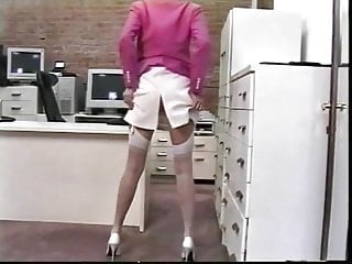 Secretary uses toys in office and bedroom to pleasure herself