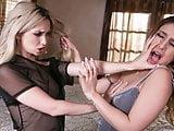 Lesbian lovers catfighting