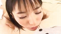 Momo Junna gets fingers, tongue and phallus in hairy love