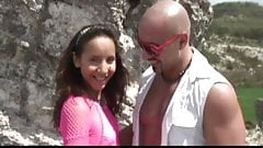Stefano and Brian analfuck a brunette