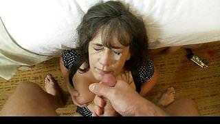 Grandma takes massive nut