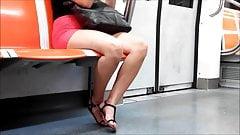 Candid Slut on Subway