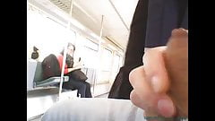 Train masturbation in front of girl