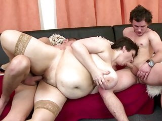 Mature Bbw Mom Fucks Two Teen Boys