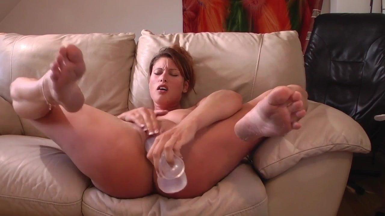 Female Masturbation Huge Dildo