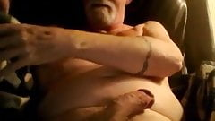 Grandad enjoys cumming