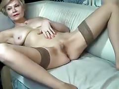Lovely GILF Pets Her Pussy On Webcam