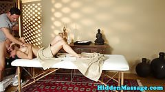 Massage loving babe pussyfucked by big cock