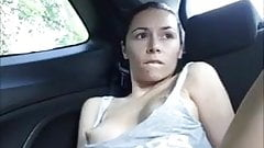 masturbating in car