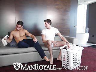 ManRoyale Morning laundry fuck with Jack Hunter