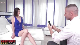 Amazing girl loves riding that massive dick while videotaped