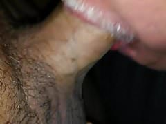 Sucking a manscaped dong at the adult theater