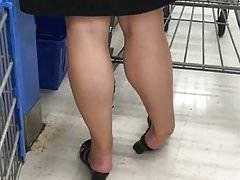 candid maure legs in mules heels