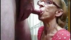 Granny Head #26 Four-eyes GILF, Side Angle View