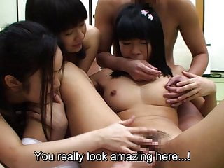 JAV schoolgirls orgy club blowjob free for all Subtitled