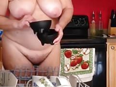 Granny in the Kitchen Naked