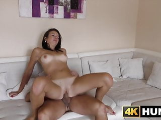 Busty young babe accepts money for big dick hammering