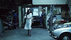 Brunette Gets MOT'd At The Garage