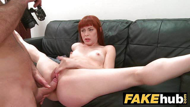 Preview 1 of Fake Agent Creampie for new Redhead American model