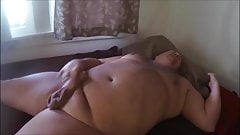 Chubby daddy blows load and cleans up