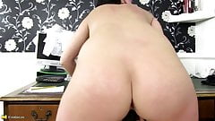 Mature katie shows off her massive tits