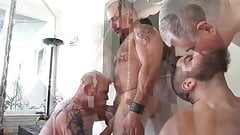 A Great Bareback Daddy Orgy