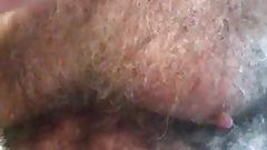 Combing White Hair Chest