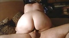Big ass wife rides cock