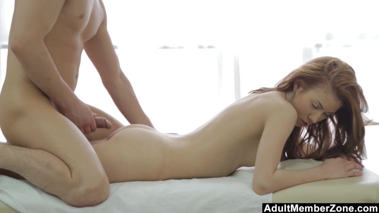 This pretty redhead will remember her deep massage