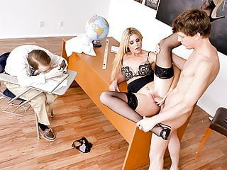 TeamSkeet - Teacher Fucks Students in Detention