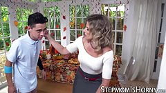 Insatiable stepmom Cory Chase banged by lucky young dude