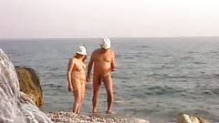 Naked at the beach