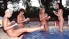 Four Lesbians Friends in Sex
