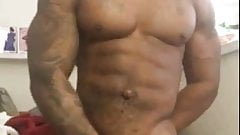 Black Muscle Jeking and Cumming