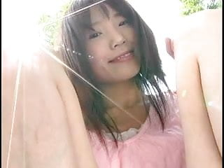 IBUKI show her slit outdoor