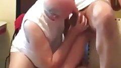 old sucks cock