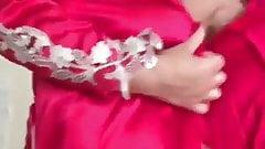 Desi Milf showing her body in pink robe