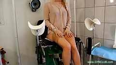 Girl on an old gynecological chair #51