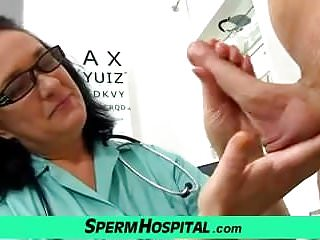 Jerking off with a hot cougar doctor Danielle