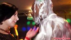 Nightclub voyeur action with closeup teens