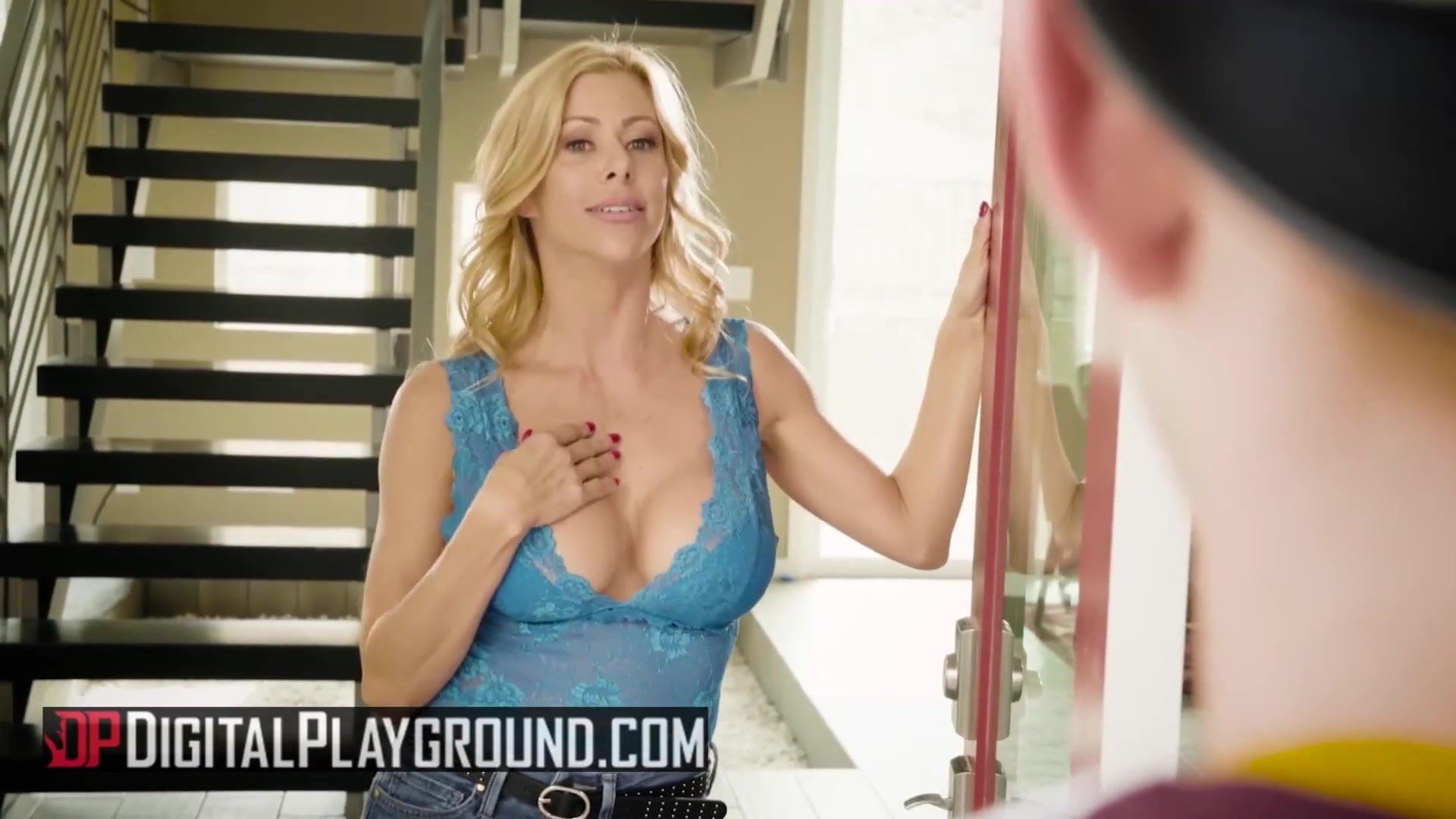 Hot blonde wife Aline wants her favorite breakfast: sausage