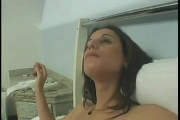 Asian chick giving a blowjob