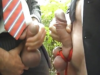 Businessman being used outdoor