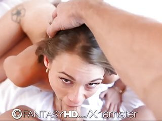 Hd Fantasyhd Sexy Petite Brunette Gets Her Body Rub With L