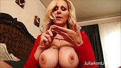 Busty Milf Julia Ann Teases Stepson with Big Tits!