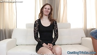 Gorgeous euro doggystyled at casting