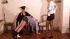 Headmistress and Teacher give Caning Punishment